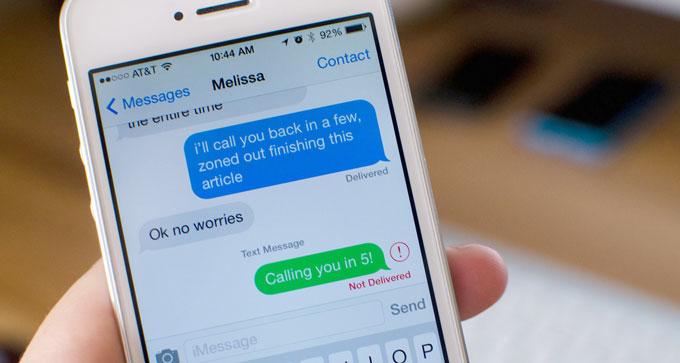 смс с Iphone