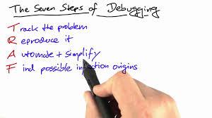 Reproduce first debugging